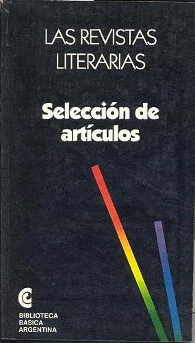 Las revistas literarias : selección de artículos.--: Lafleur, Héctor René