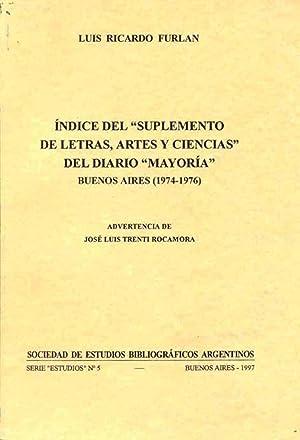 """Indice del """"Suplemento de letras, artes y: Furlan, Luis Ricardo"""