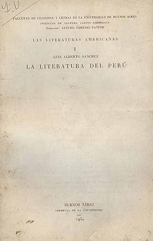 La literatura del Peru.-- ( Las literaturas: Sanchez, Luis Alberto