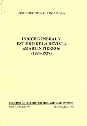 Indice general y estudio de la revista: Trenti Rocamora, José