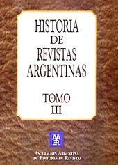 Historia de revistas argentinas. vol. 3: Asociacion Argentina de