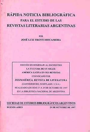 Rápida noticia bibliográfica para el estudio de: Trenti Rocamora, José