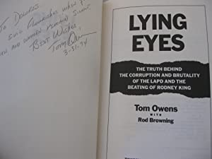 LYING EYES: Tom Owens with