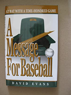 A Message For Baseball