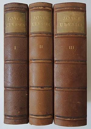 Ulysses. 3 Bände. Vom Verfasser geprüfte deutsche Ausgabe von Georg Goyert.: Joyce, James...