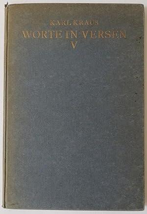 Worte in Versen V.: Kraus, Karl.