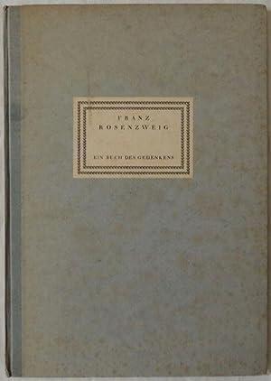 Ein Buch des Gedenkens.: Rosenzweig, Franz.