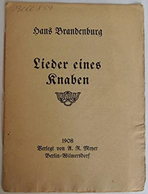 Lieder eines Knaben.: Brandenburg, Hans.
