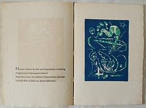 Die Sonnengesänge des Echnaton und des Franz von Assisi. Mit fünf Linolschnitten von Otto...