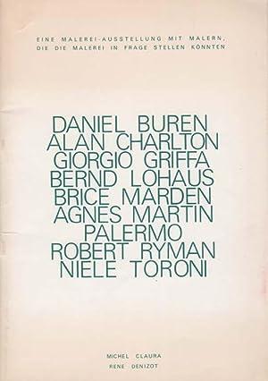 D. Buren/A. Charlton/G. Griffa/B. Lohaus/B. Marden/A. Martin/Palermo&...