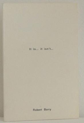 It is. it isn't.: Barry, Robert.