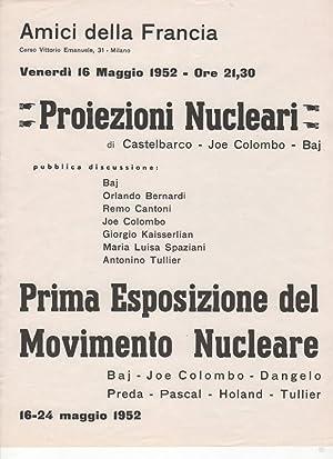 Projezioni Nucleari di Castelbarco - Joe Colombo - Baj. Pubblica discussione: Bay, Orlando Bernardi...