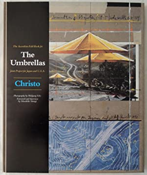 The accordion-fold book for The umbrellas joint project for Japan and USA.: Christo und Masahiko.