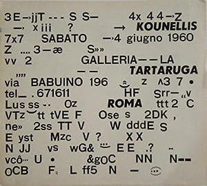 Kleinplakat zur Ausstellung in der Galerie La Tartaruga, Roma, 1960.: Kounellis, Jannis.