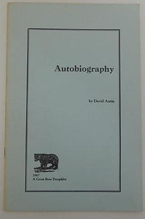Autobiography.: Antin, David.