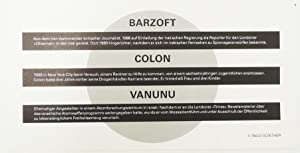 Barzoft, Colon, Vanunu.