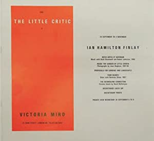 In: the Little Critic 4. Inter Artes Et Naturam/Inside the Garden at Little Sparta/Proposals for ...