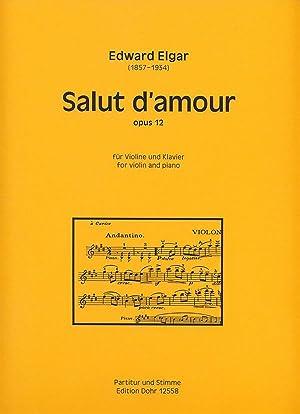 Salut d'amour für Violine und Klavier op.: Elgar, Edward