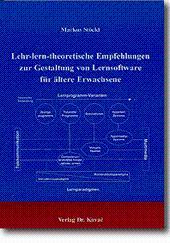 Lehr-lern-theoretische Empfehlungen zur Gestaltung von Lernsoftware für ältere Erwachsene,: Markus ...