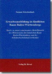 Erwachsenenbildung im ländlichen Raum Baden-Württembergs, Studie zu einem gemeinsamen Modellprojekt...