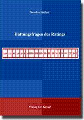 Haftungsfragen des Ratings,: Sandra Fischer