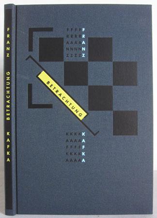 Betrachtung - mit 13 Original-Holzrissen von Franz: Kafka, Franz /