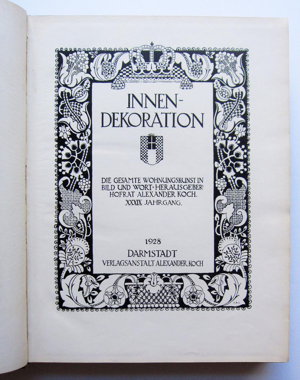 Innendekoration / Innen-Dekoration (vorher: Illustrierte ...