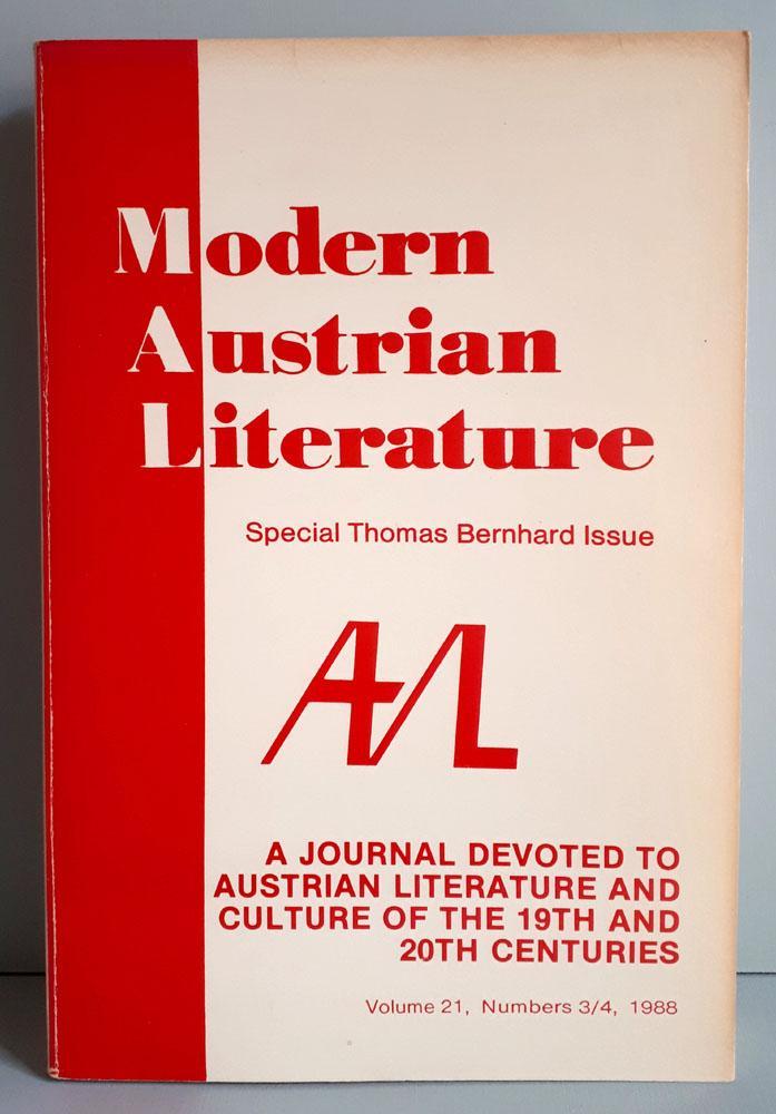 Modern Austrian Literature - Volume 21, Numbers: International Arthur Schnitzler