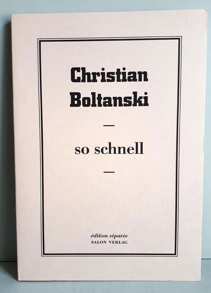 Christian Boltanski - So schnell - Édition Séparée