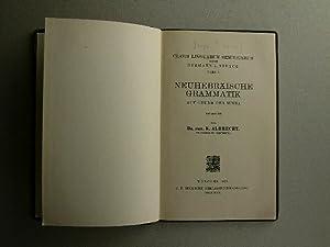 Neuhebräische Grammatik auf Grund der Misna: Albrecht, K.