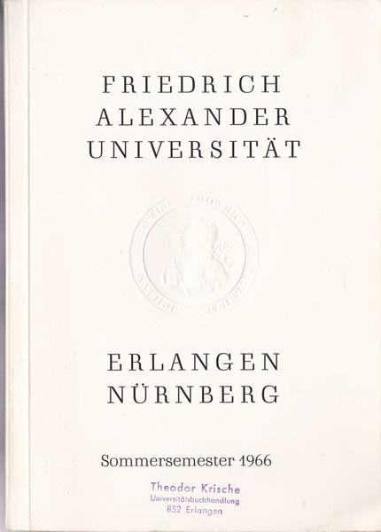Uni Erlangen Vorlesungsverzeichnis