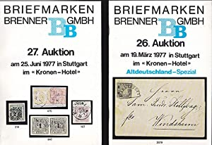 Briefmarken Brenner, 26. (und) 27. Auktion, 1977 in Stuttgart
