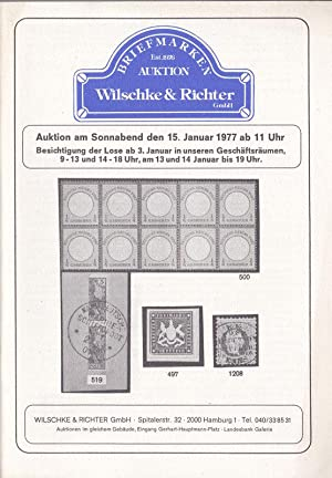 Briefmarken, Auktion am Sonnabend den 15.1.1977, Hamburg