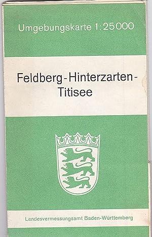 Feldberg-Hinterzarten-Titisee Umgebungskarte 1: 25000: Landesvermessungsamt Baden-Württemberg (Hrsg)