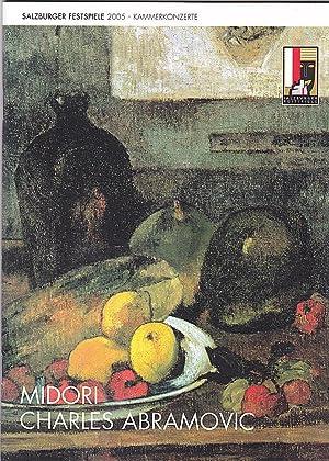 Programmheft Salzburger Festspiele 2005: Kammerkonzert Midori Charles: Salzburger Festspiele (Hrsg.)