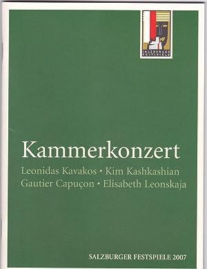 Programmheft Kammerkonzert: Leonidas Kavakos, Kim Kashkashian, Gautier: Salzburger Festspiele (Hrsg.)