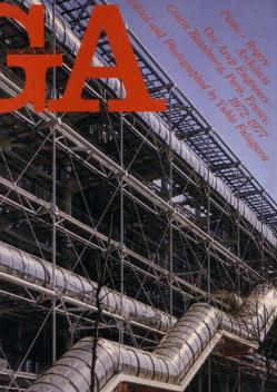 GLOBAL ARCHITECTURE 44. Piano + Rogers Architects. Ove Arup Engineers. Centre Beaubourg, Paris, F...