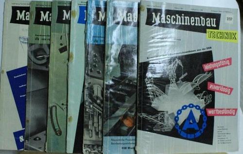 Maschinenbau Technik Konvolut. Jahrgang 1957/2-8,Technisch-Wissenschaftliche-Zeitschrift für Werkzeugmaschienen-,: Kammer der Technik