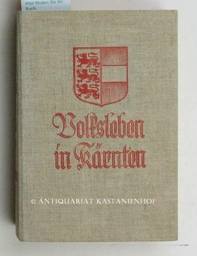 Volksleben in Kärnten,Mit 4 Tafeln in Mehrfarbendruck,: Graber, Georg