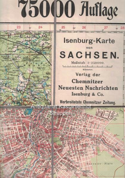 Karte Chemnitz.Isenburg Karte Von Sachsen Massstab 1 250000