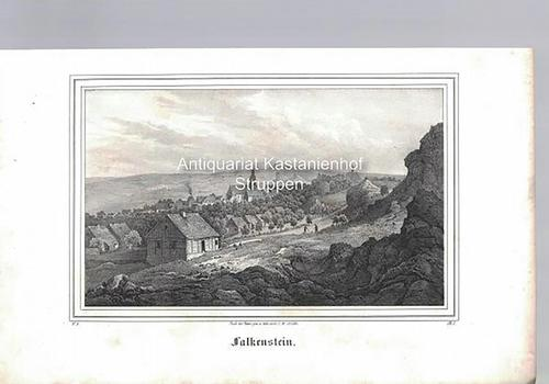 Falkenstein. Original-Lithographie.,unten links: V. 8, unten rechts: Nach d. Natur