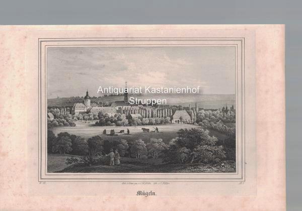 Mügeln. Original-Lithographie.,unten links: V. 17. unten rechts: Nach d. Natur