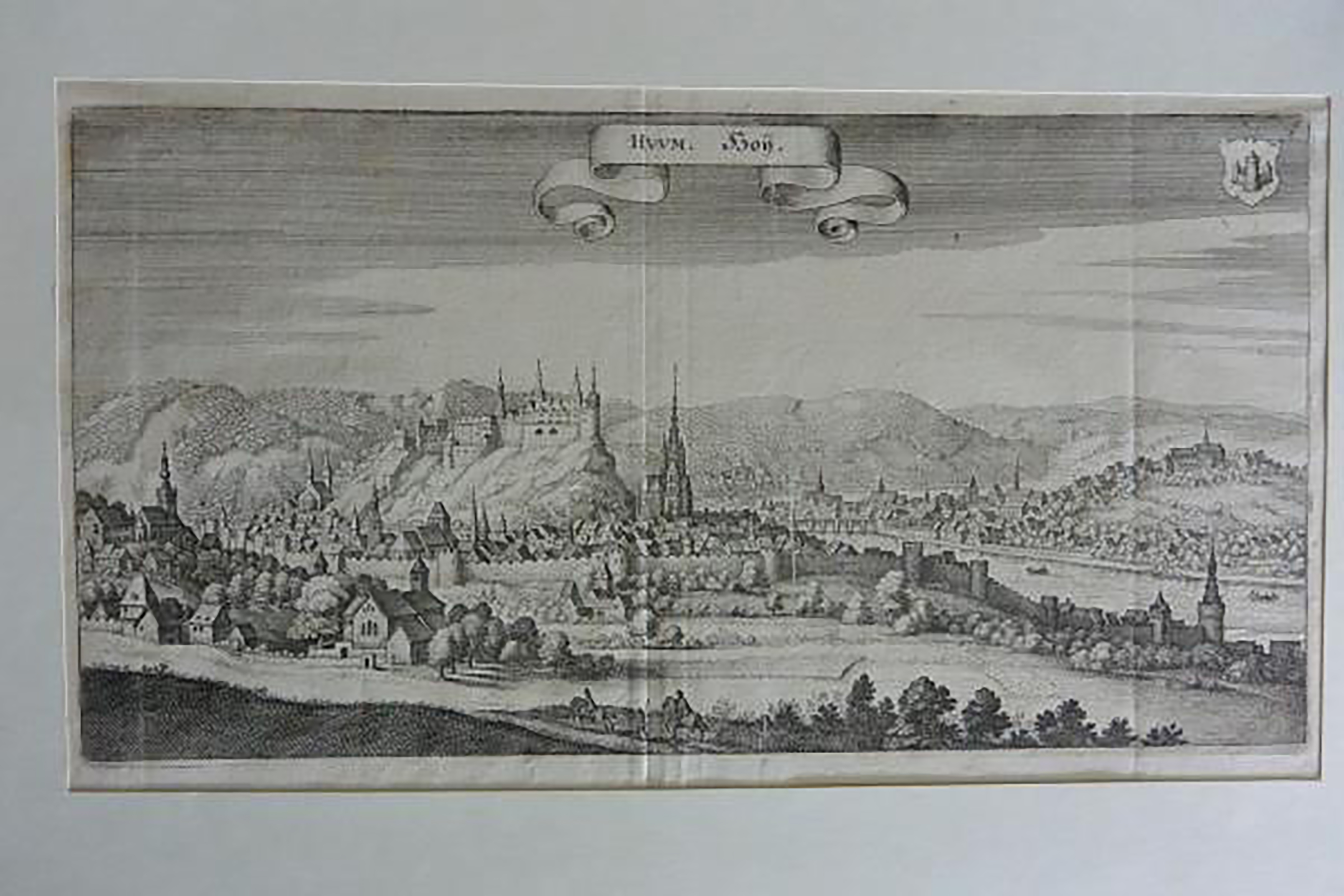 HUUM. Hoij) Huy ,Original-Kupferstich aus: Topographia Westphaliae.,: Merian, Matthäus