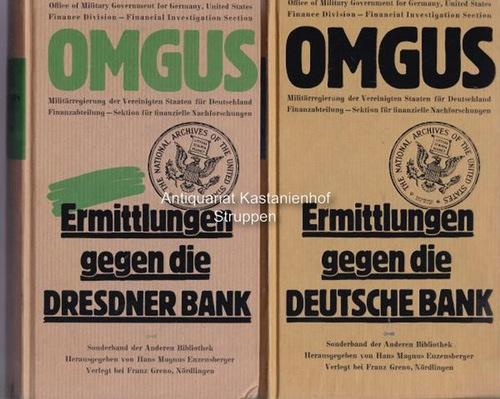 3 Bände Ermittlungen gegen die Deutsche Bank.,1.: Diverse