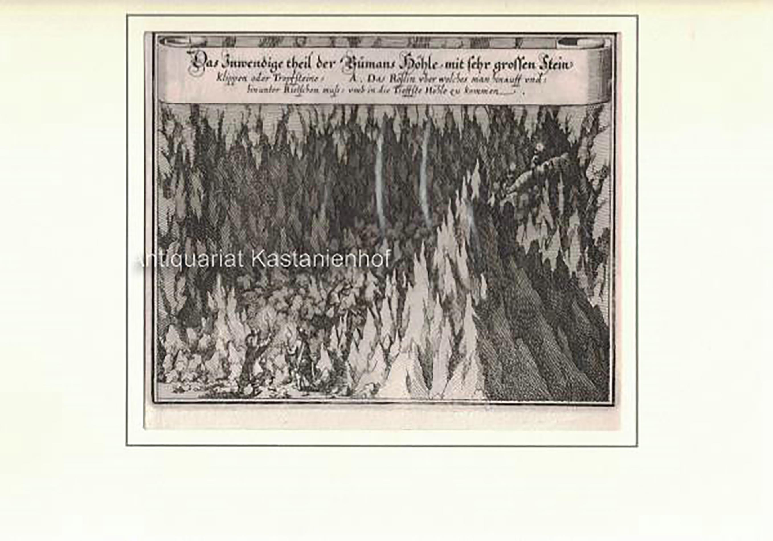 Das Inwendige der Bumans Höhle, mit sehr: Matthäus Merian d.
