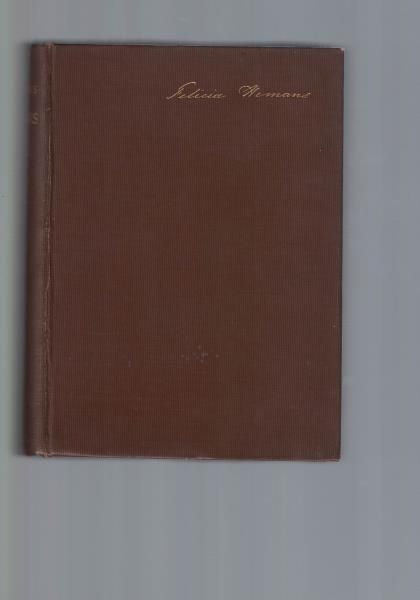 The poetical works of Mrs. Hemans,with prefatory: Hemans, Felicia