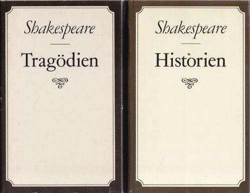 2 Bände von Shakespeare. 1. Tragödie. 2.: Shakespeare