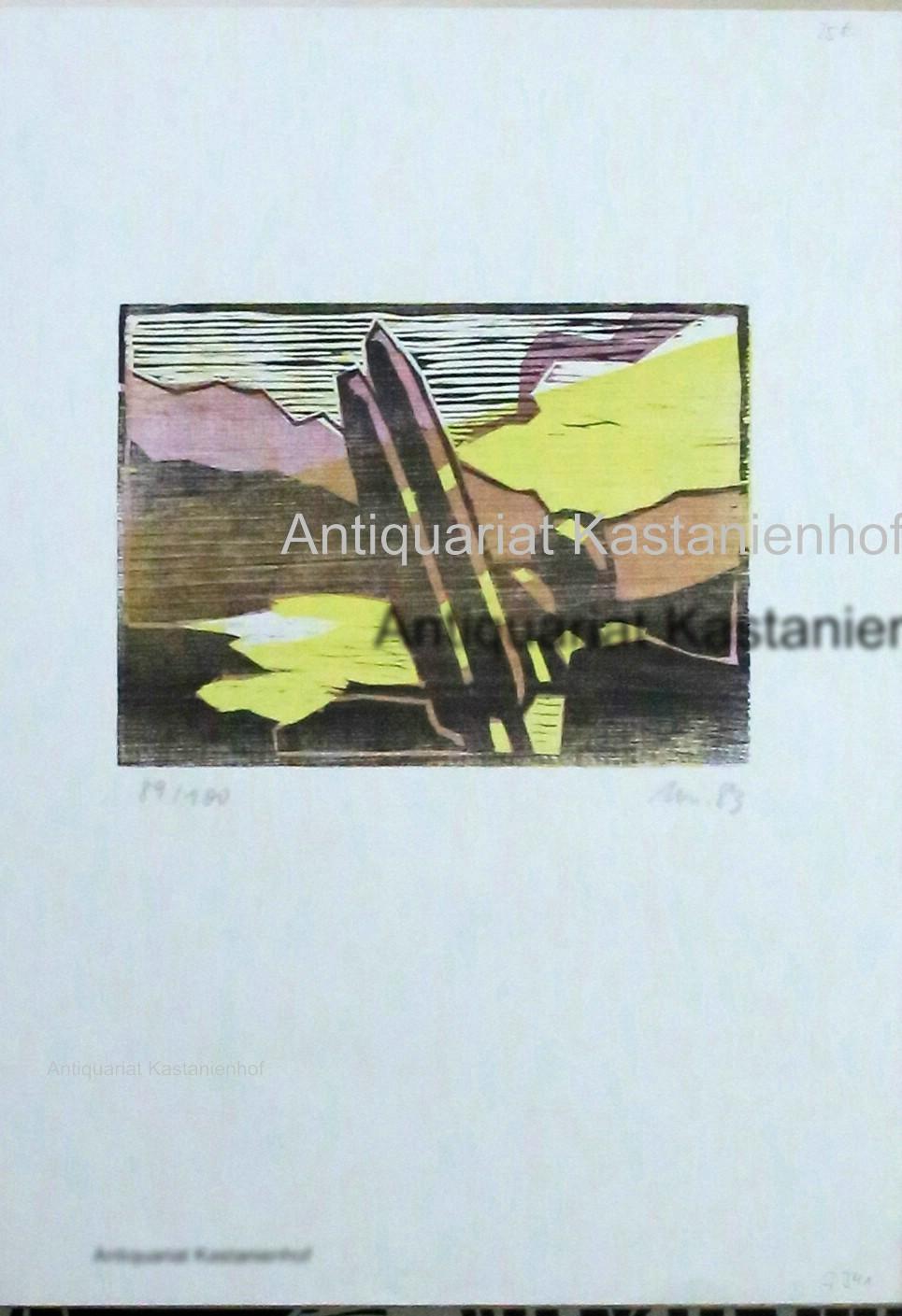 o.T, abstrahierte Landschaft: unleserlich
