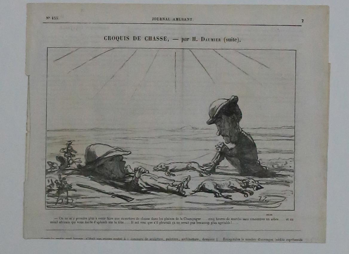 Croquis de chasse Par H. Daumier (suite): Nach Daumier, Unleserlich