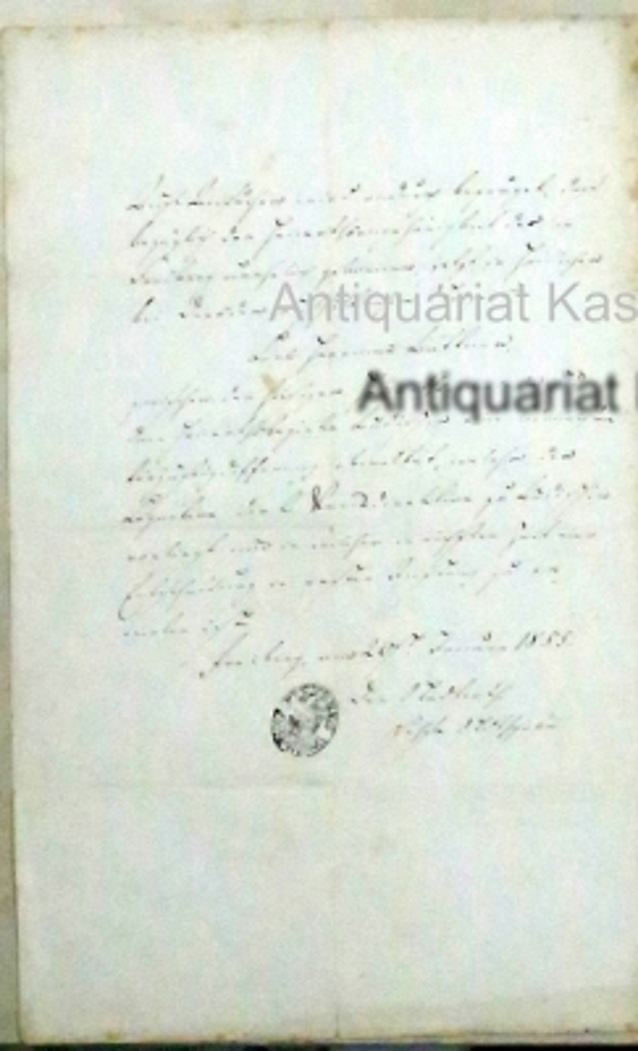 o.T, amtliche Handschrift vom 20. Januar 1855,: unleserlich